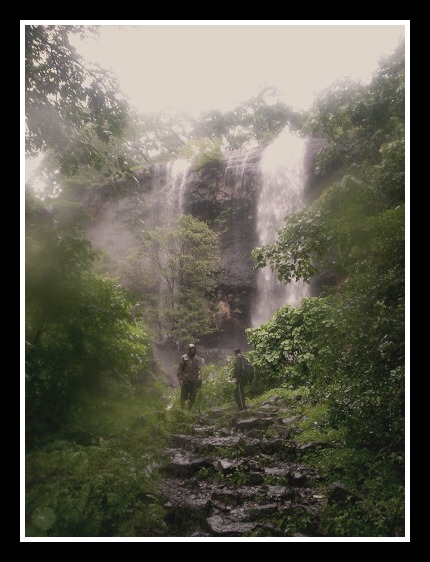 Waterfalls outside Kondhane Caves